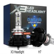 LED prestavbová sada  H7 X3 Philips Lumileds