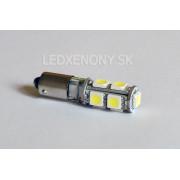 Led žiarovka BA9X 9smd canbus (H6W)