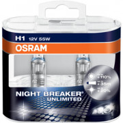 OSRAM NIGHT BREAKER® UNLIMITED H1 Duo Box